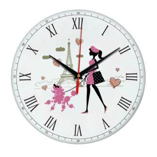 Часы настенные «Париж и флирт»