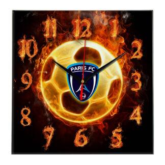 Настенные часы «Огненный футболист Paris fc»