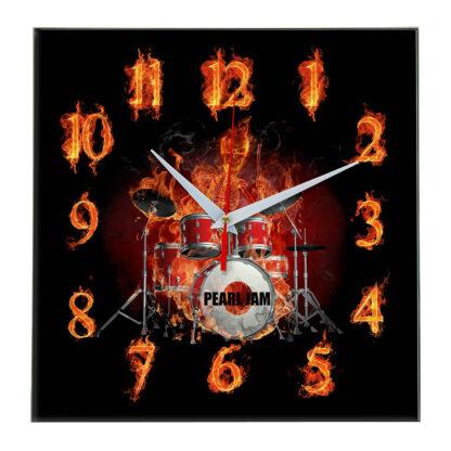 Pearl jam настенные часы 10