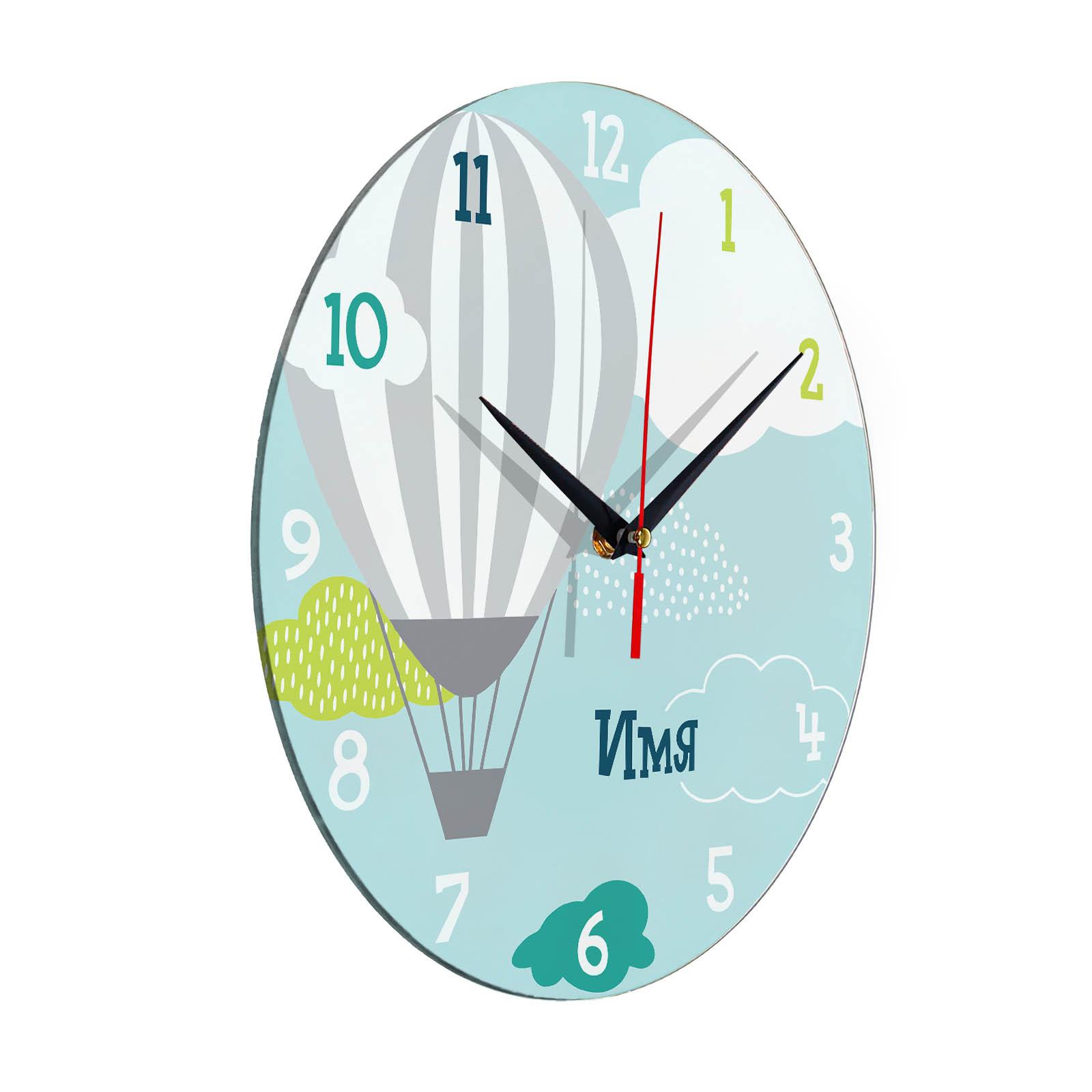 Настенные часы с именем. Нанесение надписи на часы на заказ.