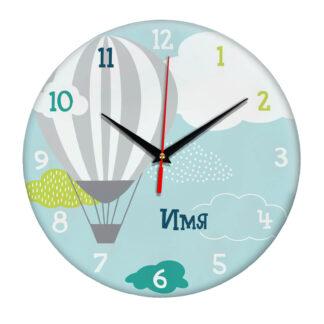 Именные настенные часы с дизайном «Шар»