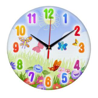 Часы Луг и бабочки