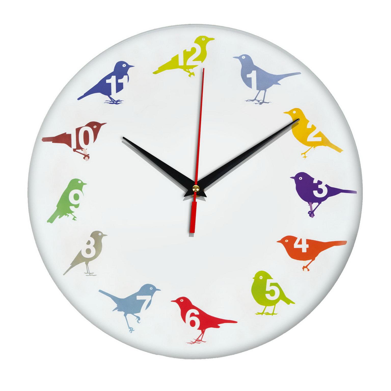 Оригинальные часы «Яркие пернатые»