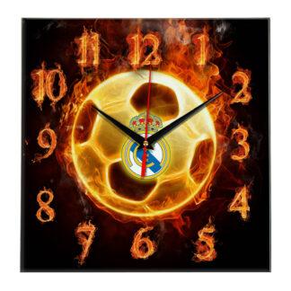 Настенные часы «Огненный футболист Real madrid»