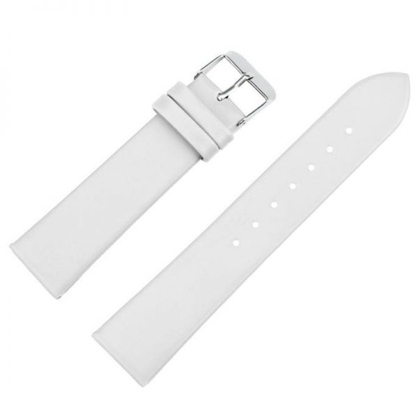 Ремешок кожаный белый для наручных часов