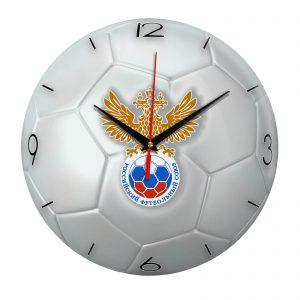 Настенные часы «Футбольный мяч Rossiyskiy futbolnyi souz»