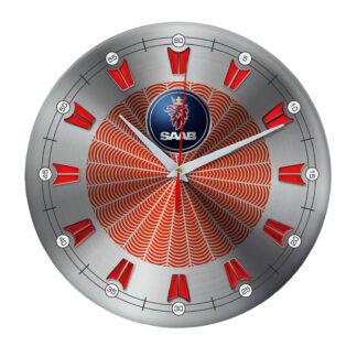 настенные часы с символом Saab 09