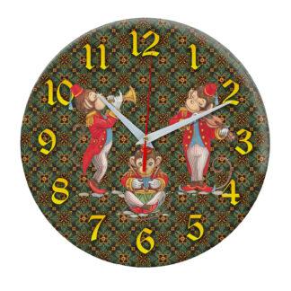 Часы Игрушки музыканты