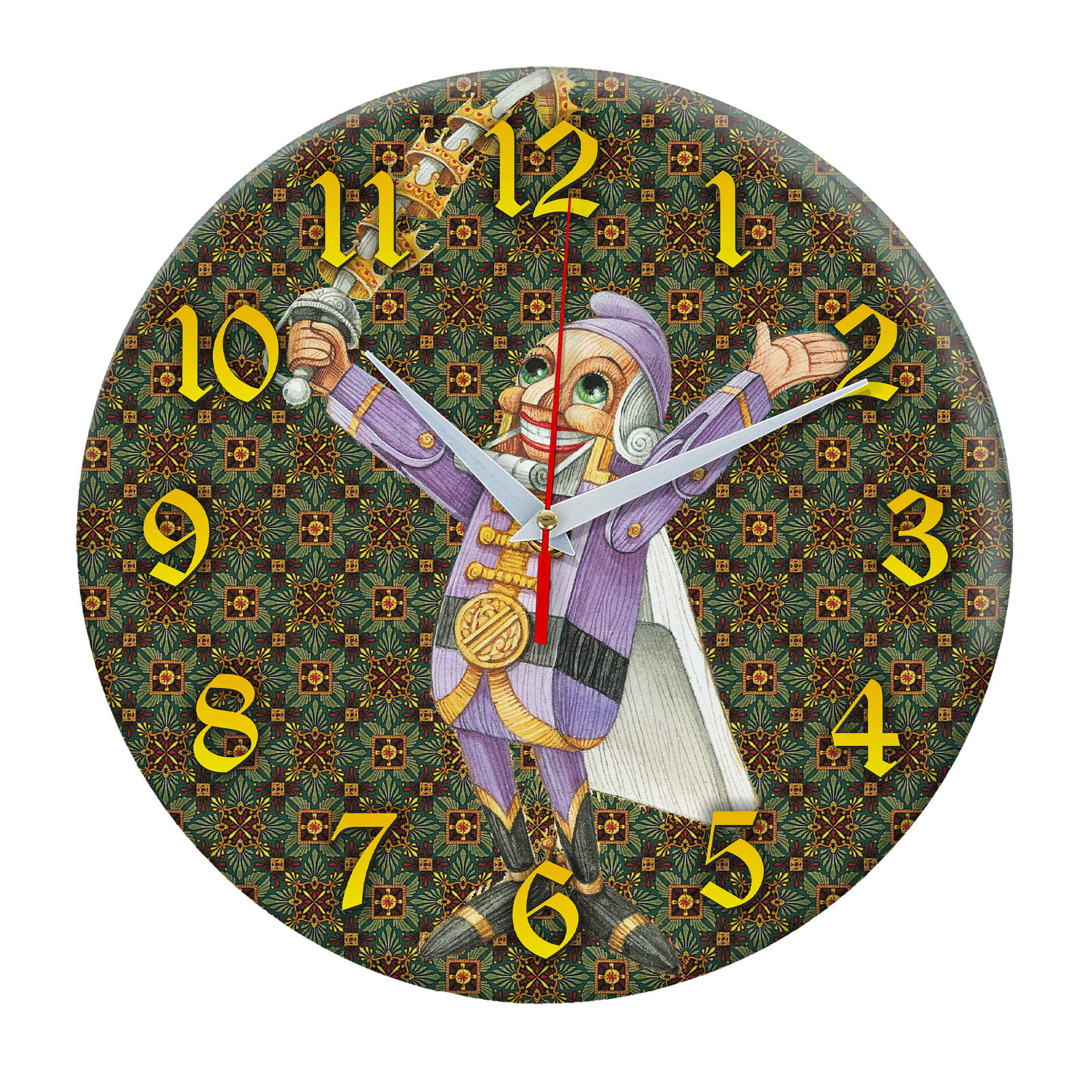 Щелкунчик настенные часы