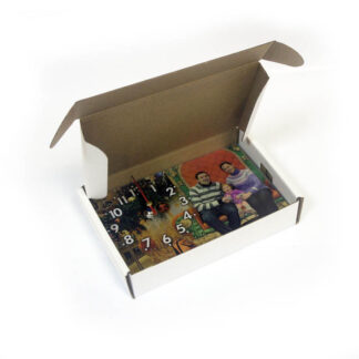 Коробка для часов настольных 180х120 мм белый/бурый картон