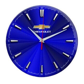 Настенные часы «shevrolet синие»