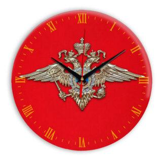 Настенные часы  «simvolika-MVD-3d-krasnoe»