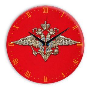 Настенные часы «simvolika-MVD-3d-krasnoe-svetl-krug»