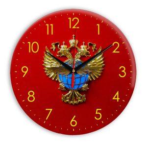Настенные часы «simvolika-rosaviaciya-3d-svetl-krug»