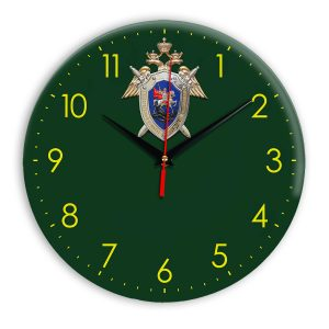 Настенные часы «simvolika-sledstvennyj-komitet-3d-svetl-krug»