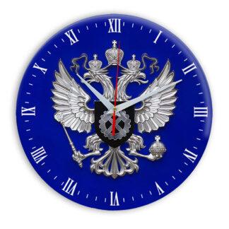 Настенные часы  «simvolika-sluzhba-po-trudu-i-zanjatosti-3d-temn-krug»