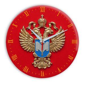 Настенные часы «simvolika-statistiki-zoloto-3d-temn-krug»