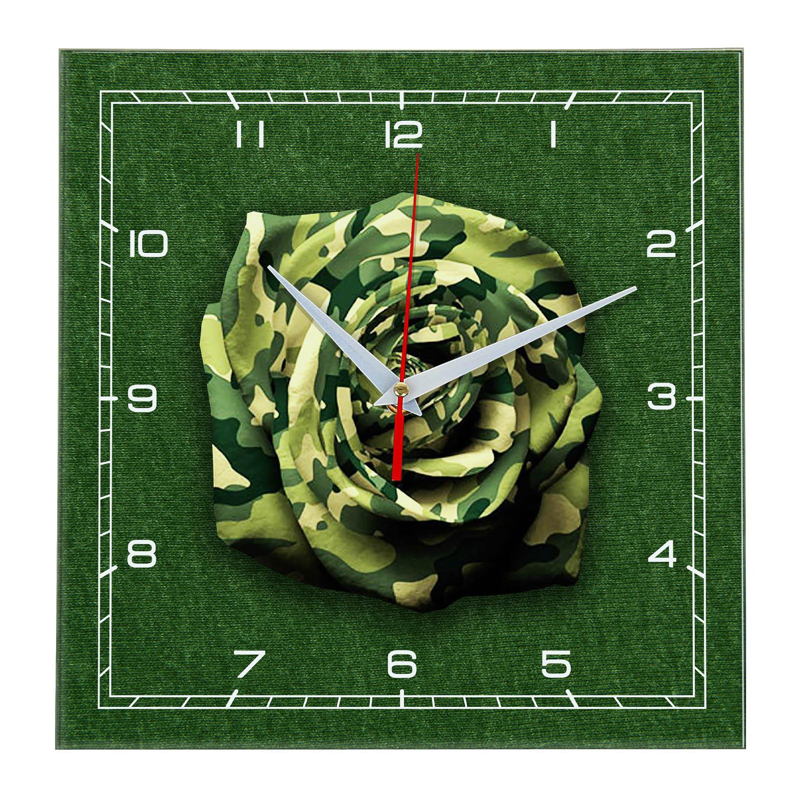 Часы настенные «Роза хаки»