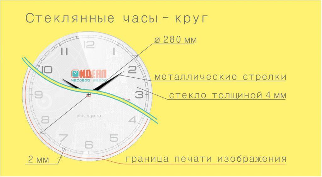 шаблон круглых настенных часов для дизайна циферблата SouvenirClock