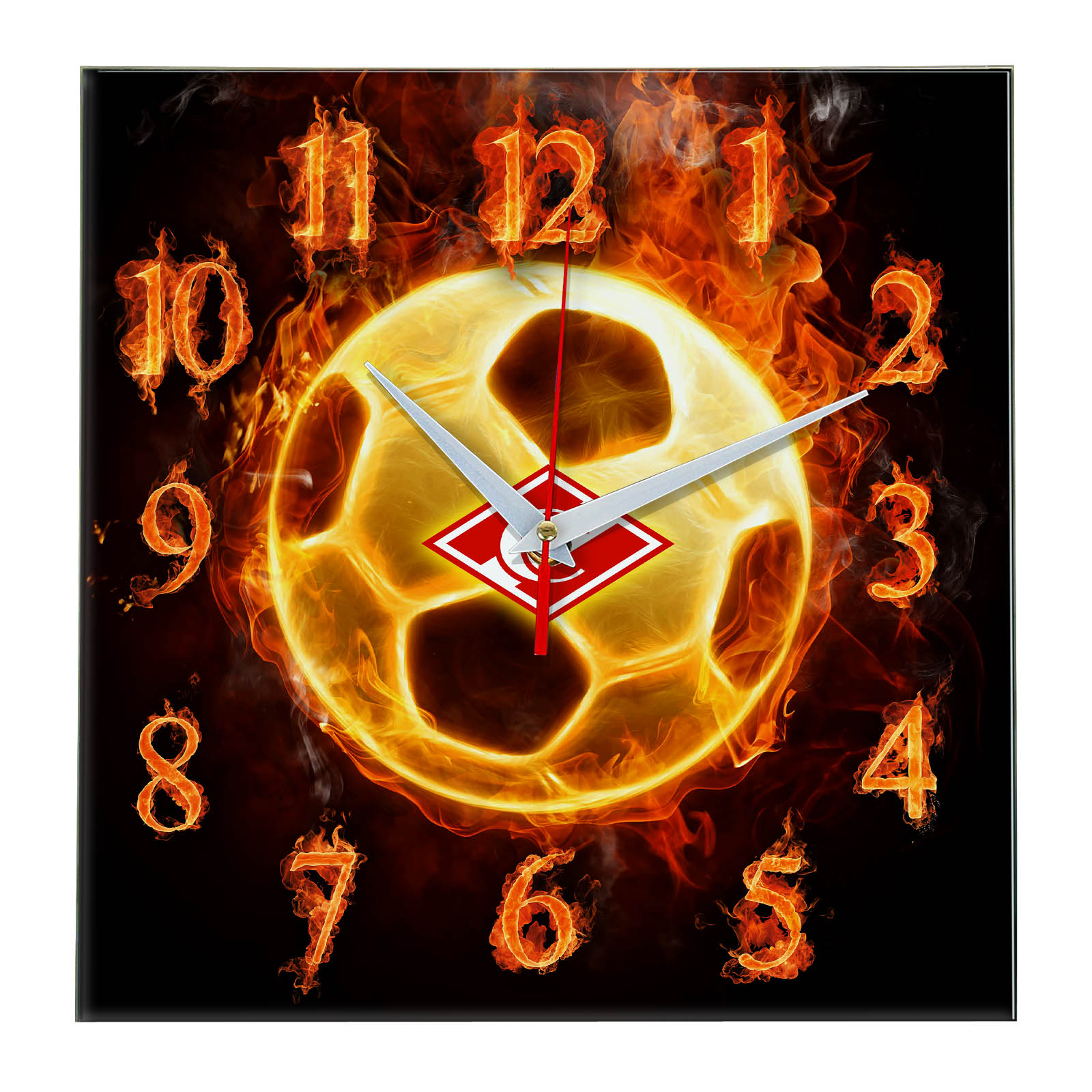 Настенные часы «Огненный футболист Спартак»
