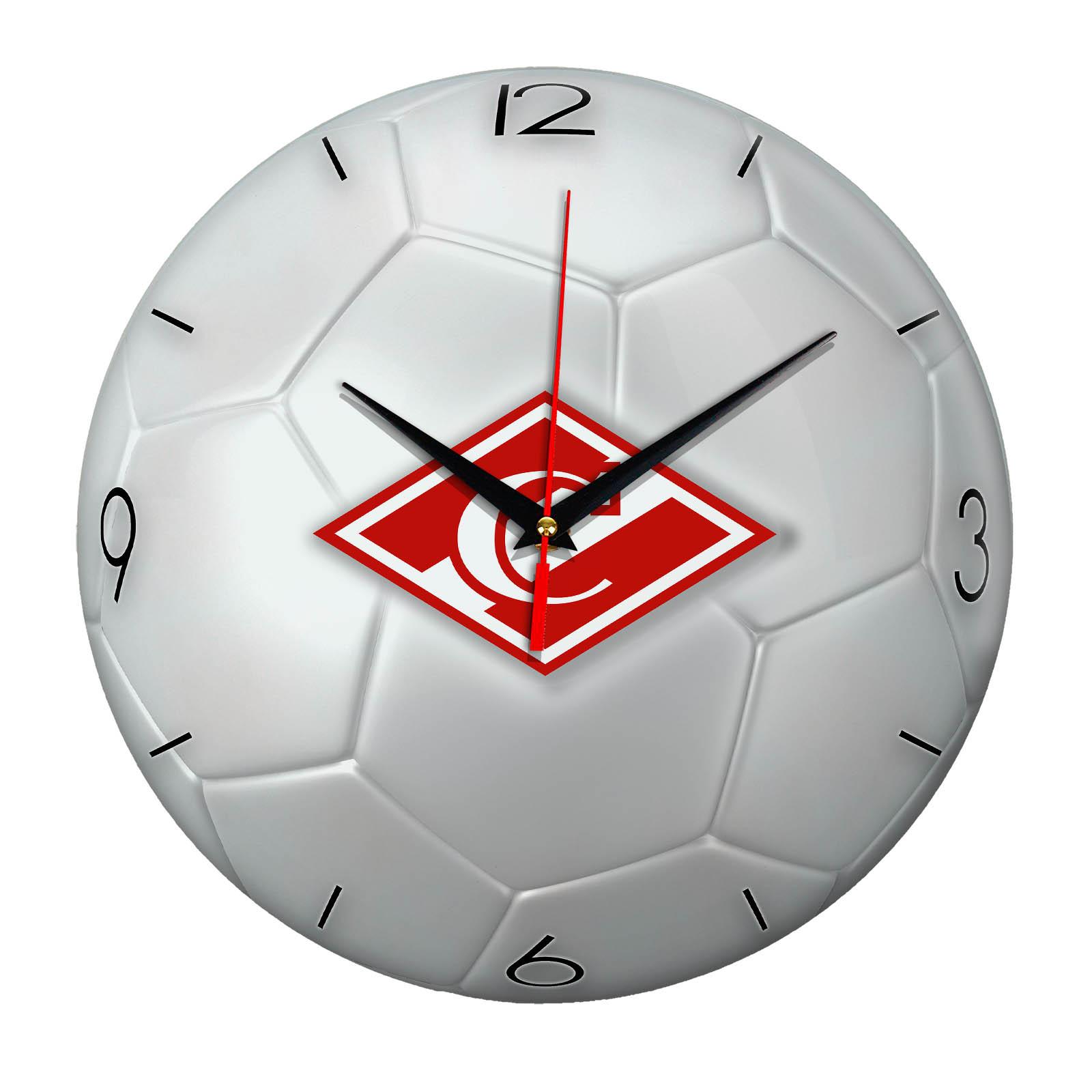 Настенные часы «Футбольный мяч Спартак Москва ФК»
