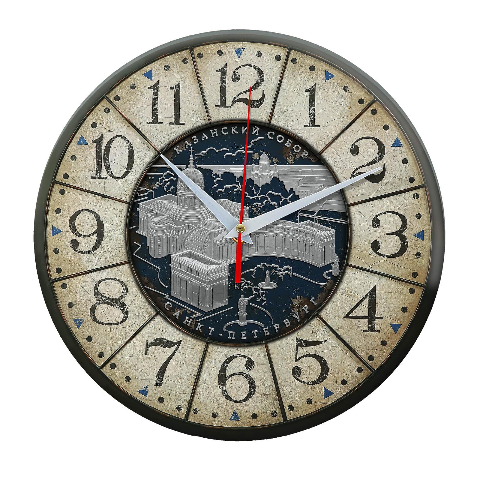 часы сувенир с видами Санкт Петербурга 1-01