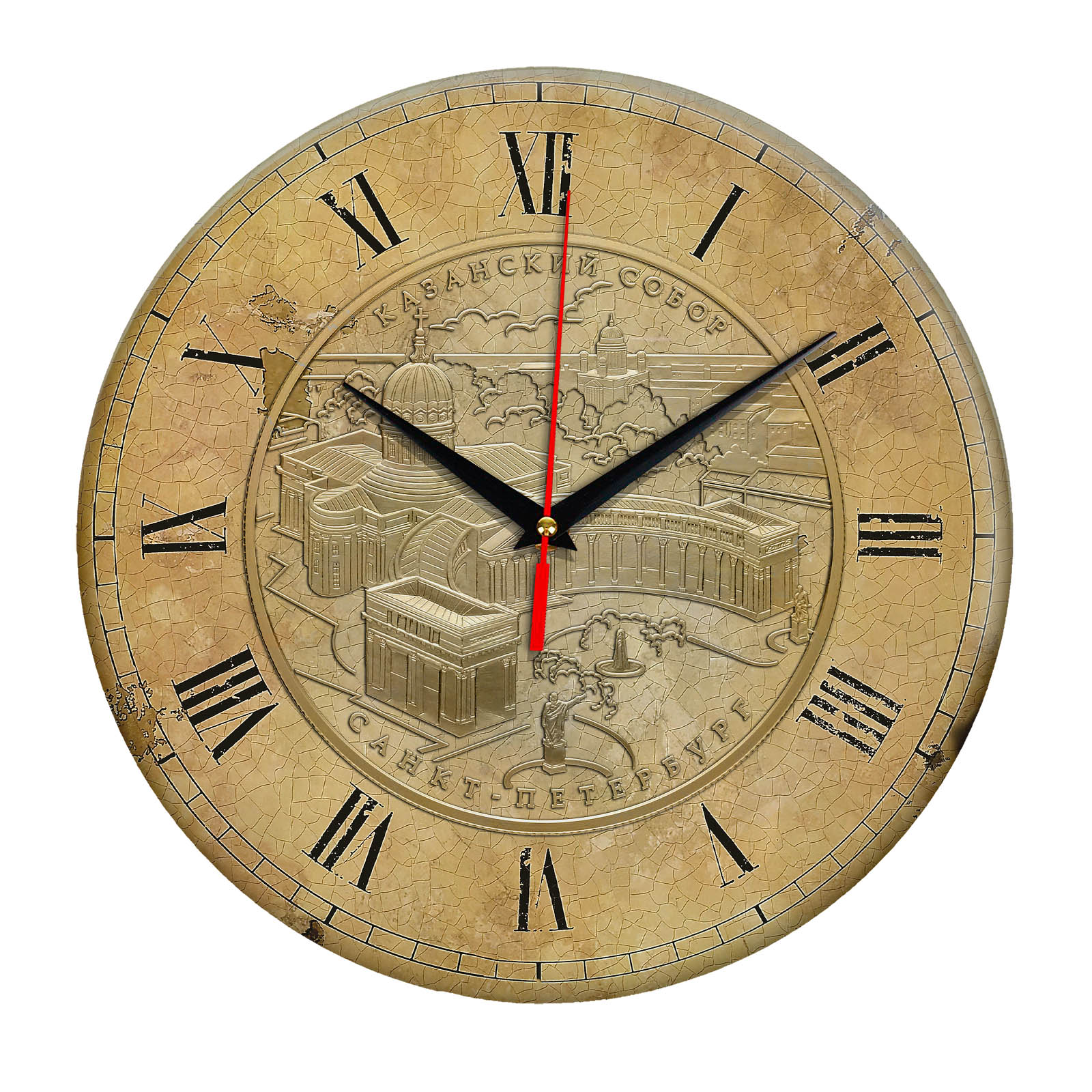 часы сувенир с видами Санкт Петербурга 1-03