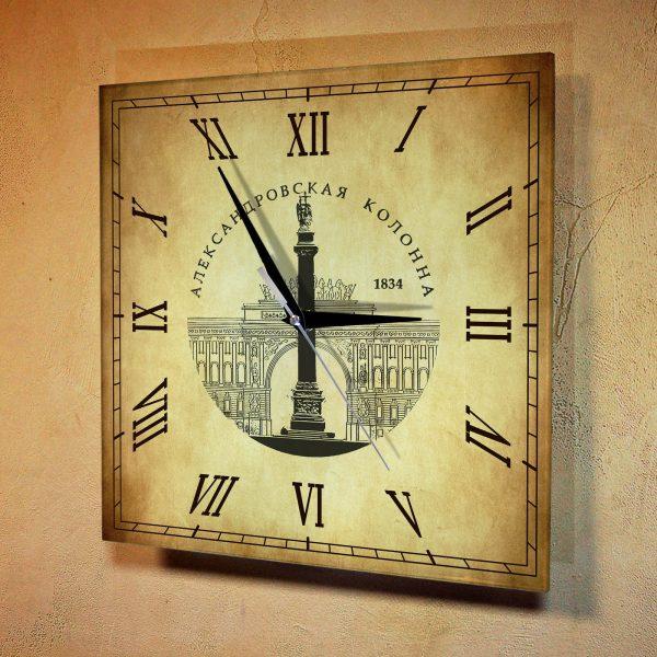 """Часы настенные """"Главная площадь Санкт Петербурга"""""""