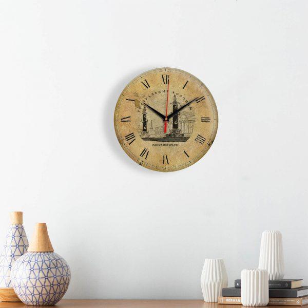 """Часы настенные """"Ретро Ростральные колонны"""""""