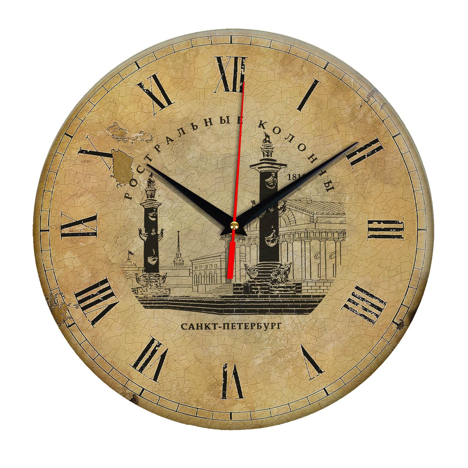 Часы настенные «Ретро Ростральные колонны»
