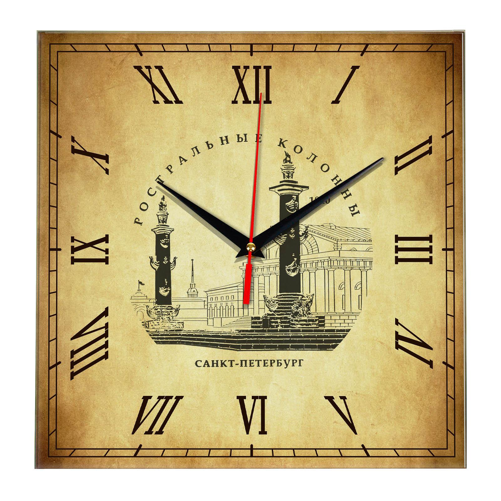 Часы настенные «Знаменитые ростральные колонны Санкт Петербурга»