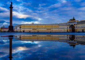 Фото на стекле «Дворцовая площадь Санкт- Петербурга «