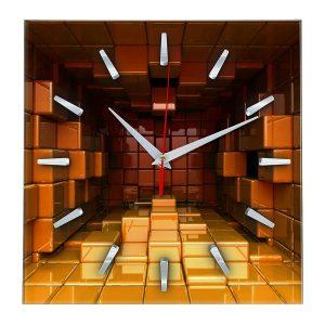 Часы с объемным 3D эффектом