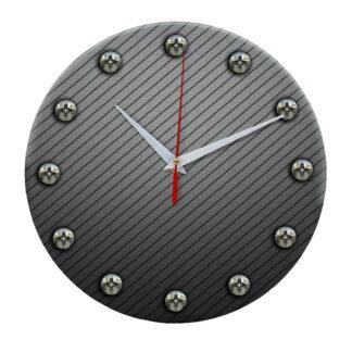 Часы настенные из стекла для строителей