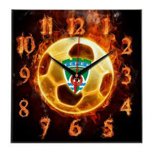 Настенные часы «Огненный футболист Terek»