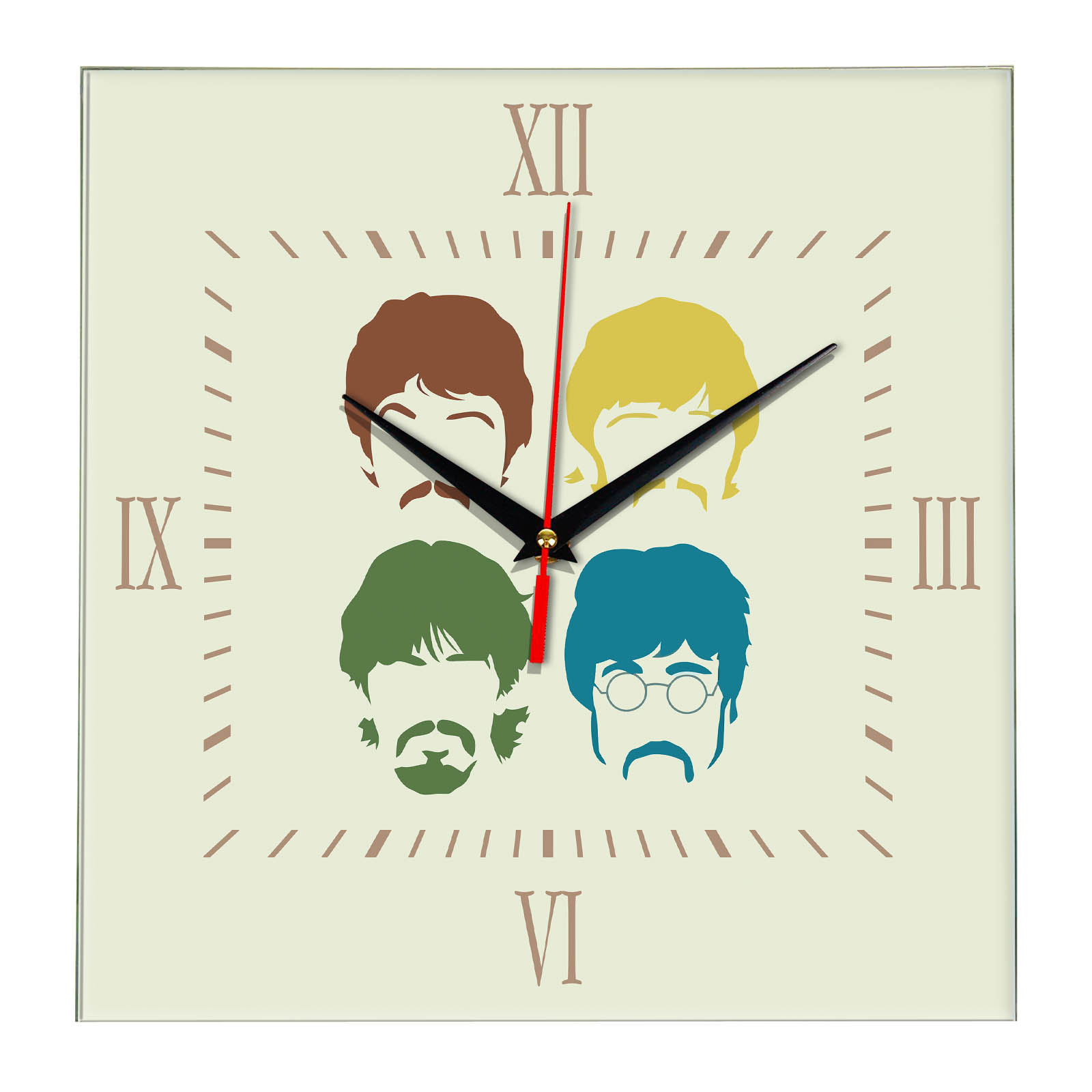 Настенные часы «the_beatles_faces»