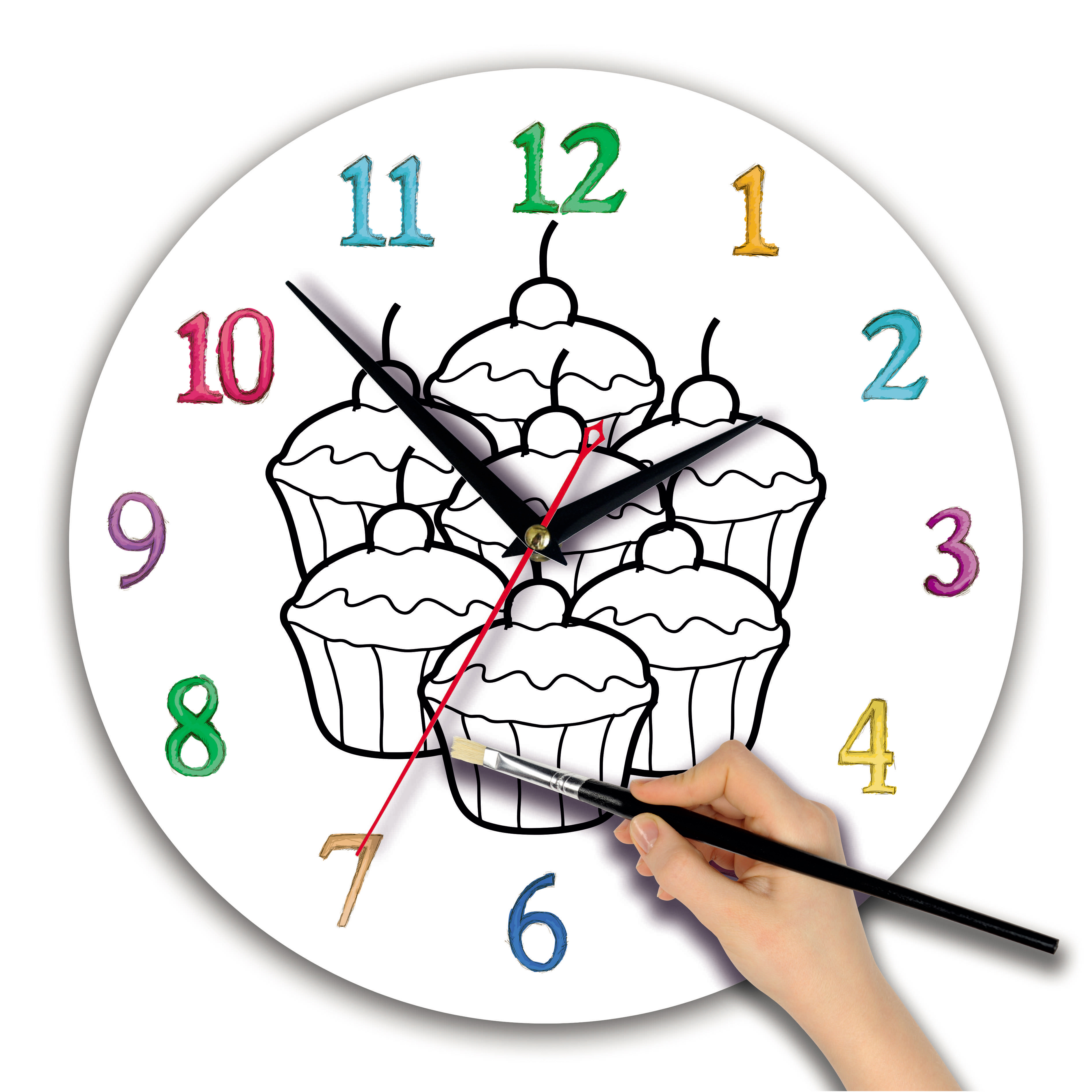 """часы раскраска для детей """"Кексы"""""""
