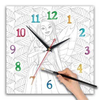 часы раскраска для девочек «Фея»