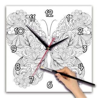 Часы раскраска. Циферблат квадрат 280х280 мм
