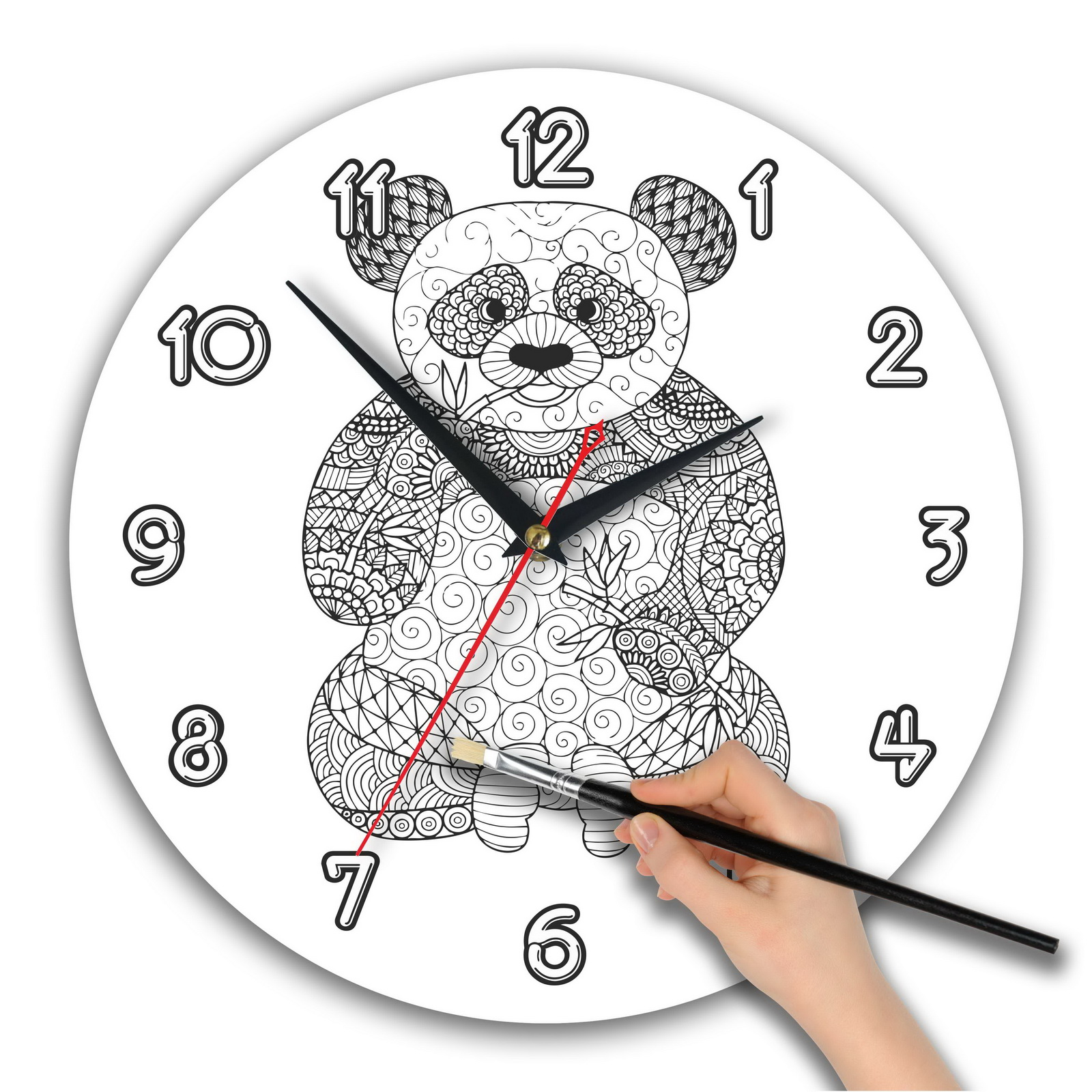 """Часы раскраска. зенарт """"Панда"""""""