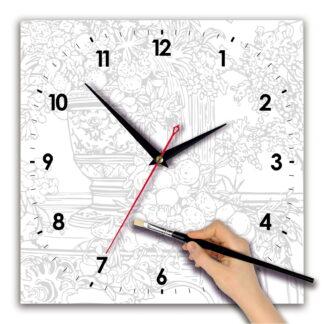 Часы для росписи «цветы акварелью»