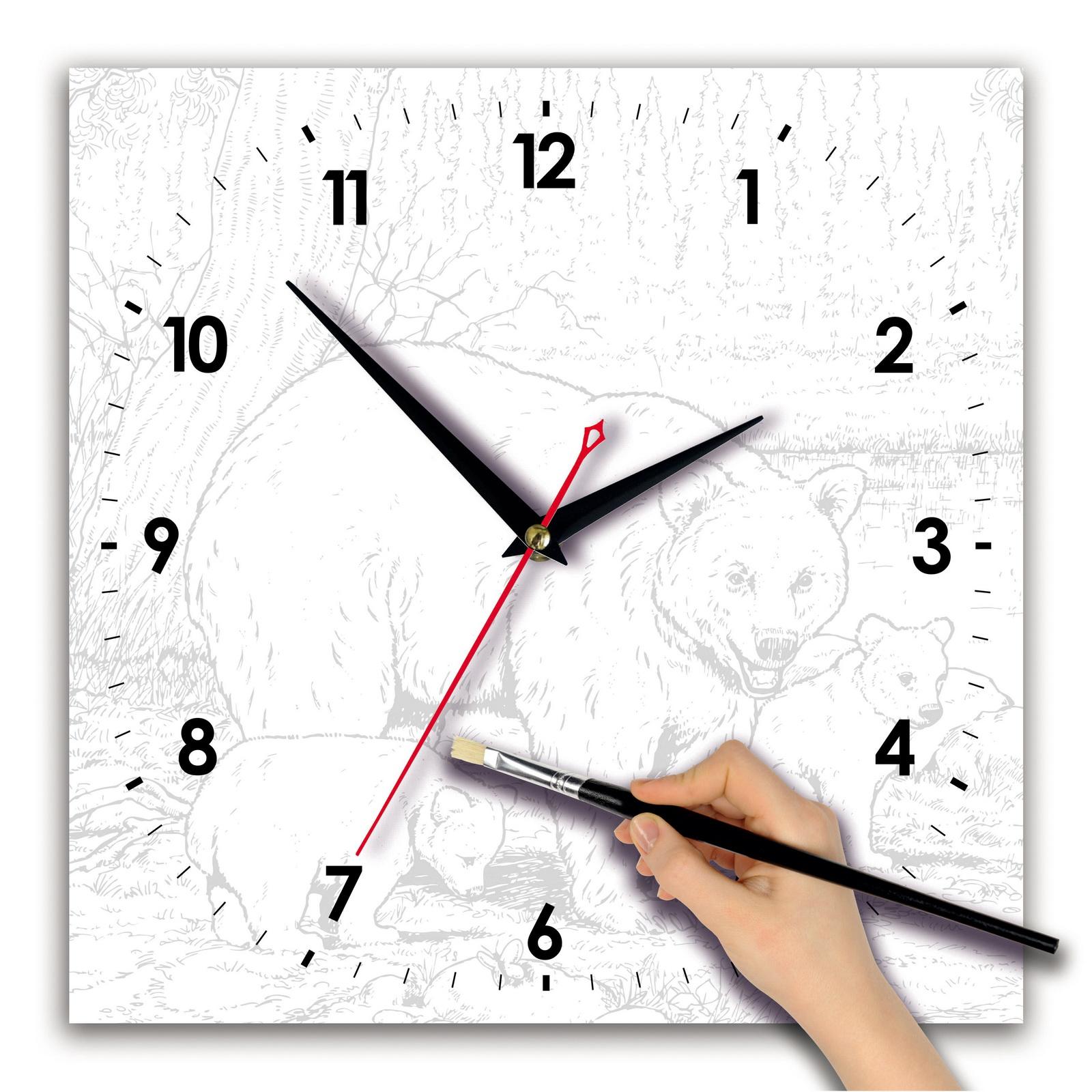 Часы раскраска «Пейзаж акварелью»