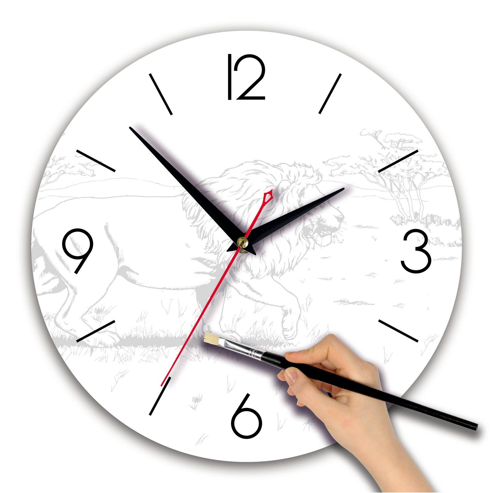 Часы раскраска «Лев»