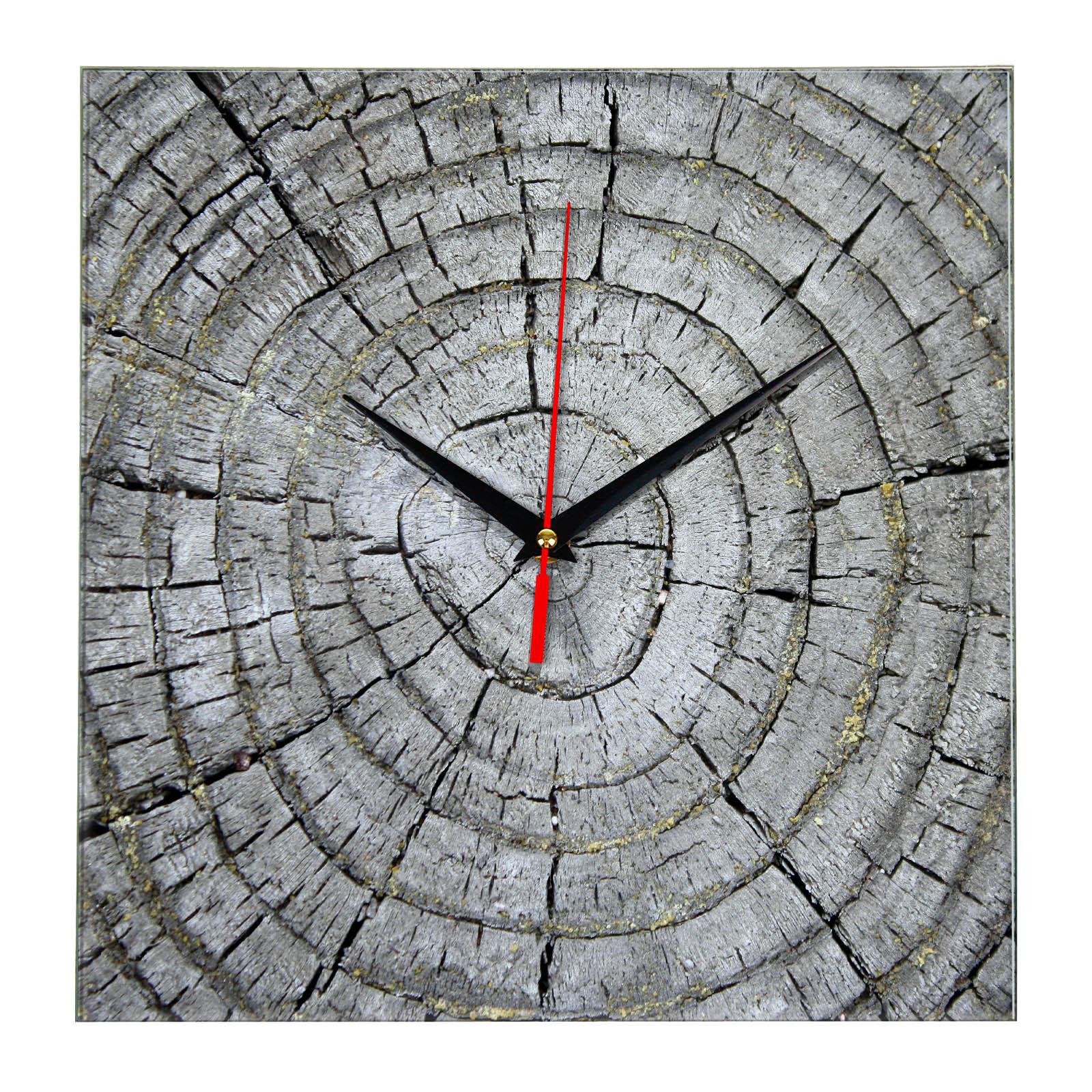 Дизайнерские настенные деревянные часы «WoodGlass» 10