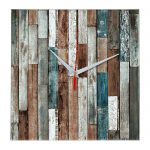 """Дизайнерские настенные деревянные часы """"WoodGlass"""" 11"""