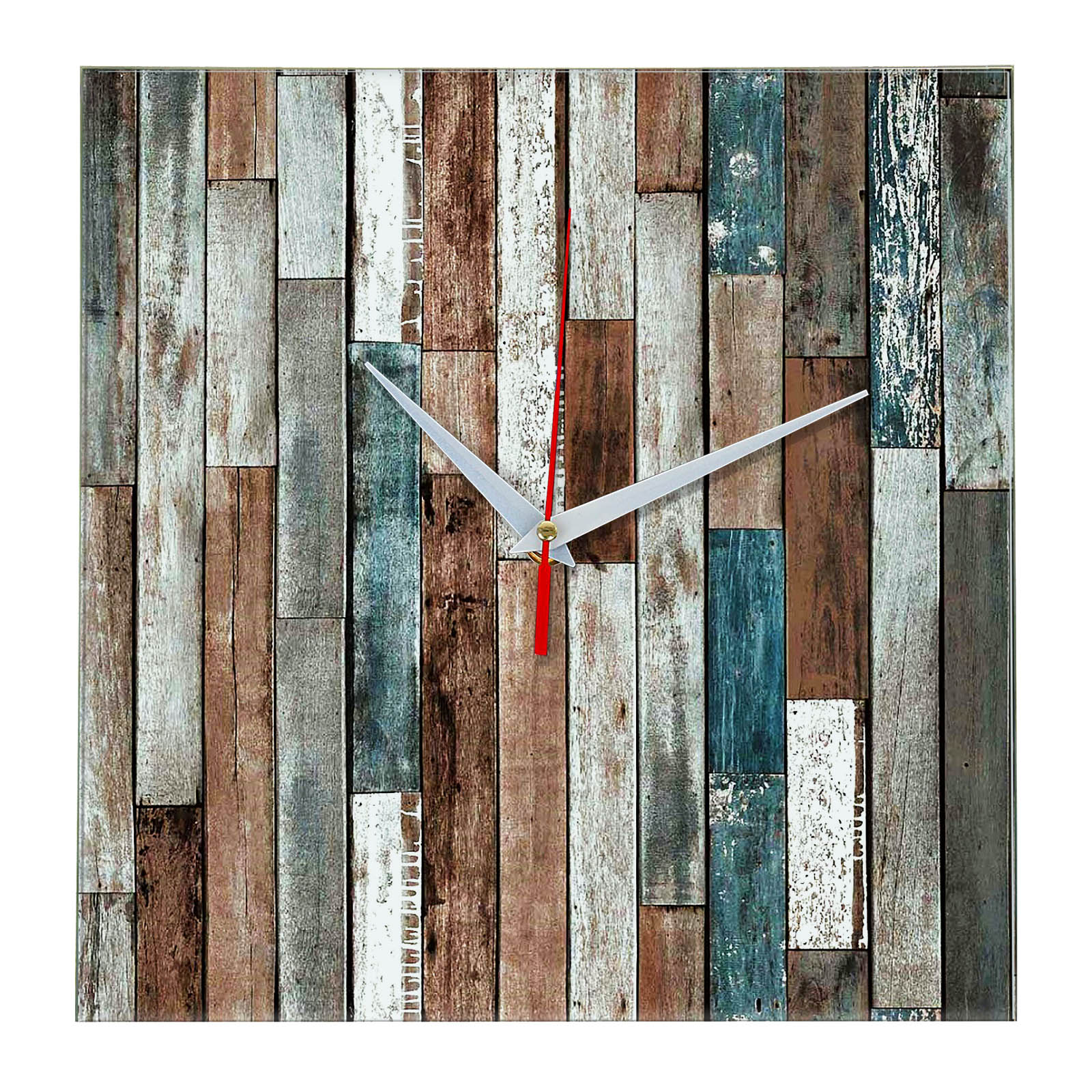 Дизайнерские настенные деревянные часы «WoodGlass» 11