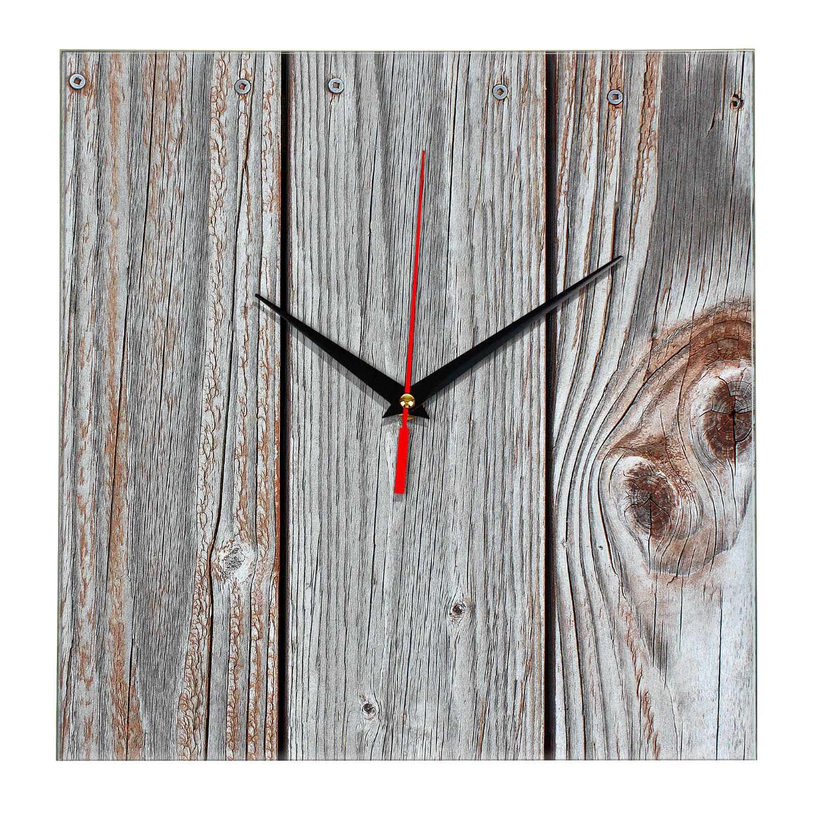 """Дизайнерские настенные деревянные часы """"WoodGlass"""" 12"""