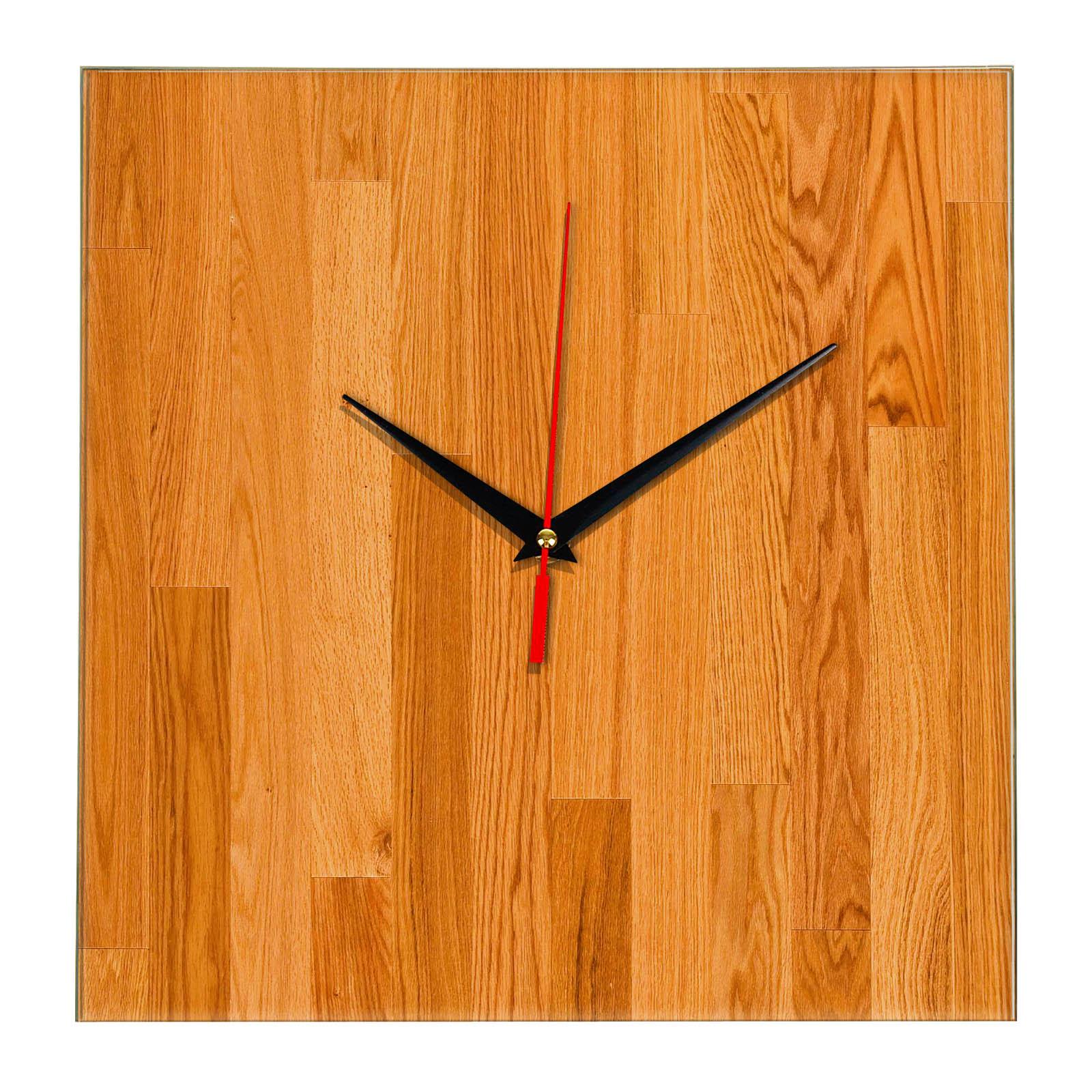 Дизайнерские настенные деревянные часы «WoodGlass» 13