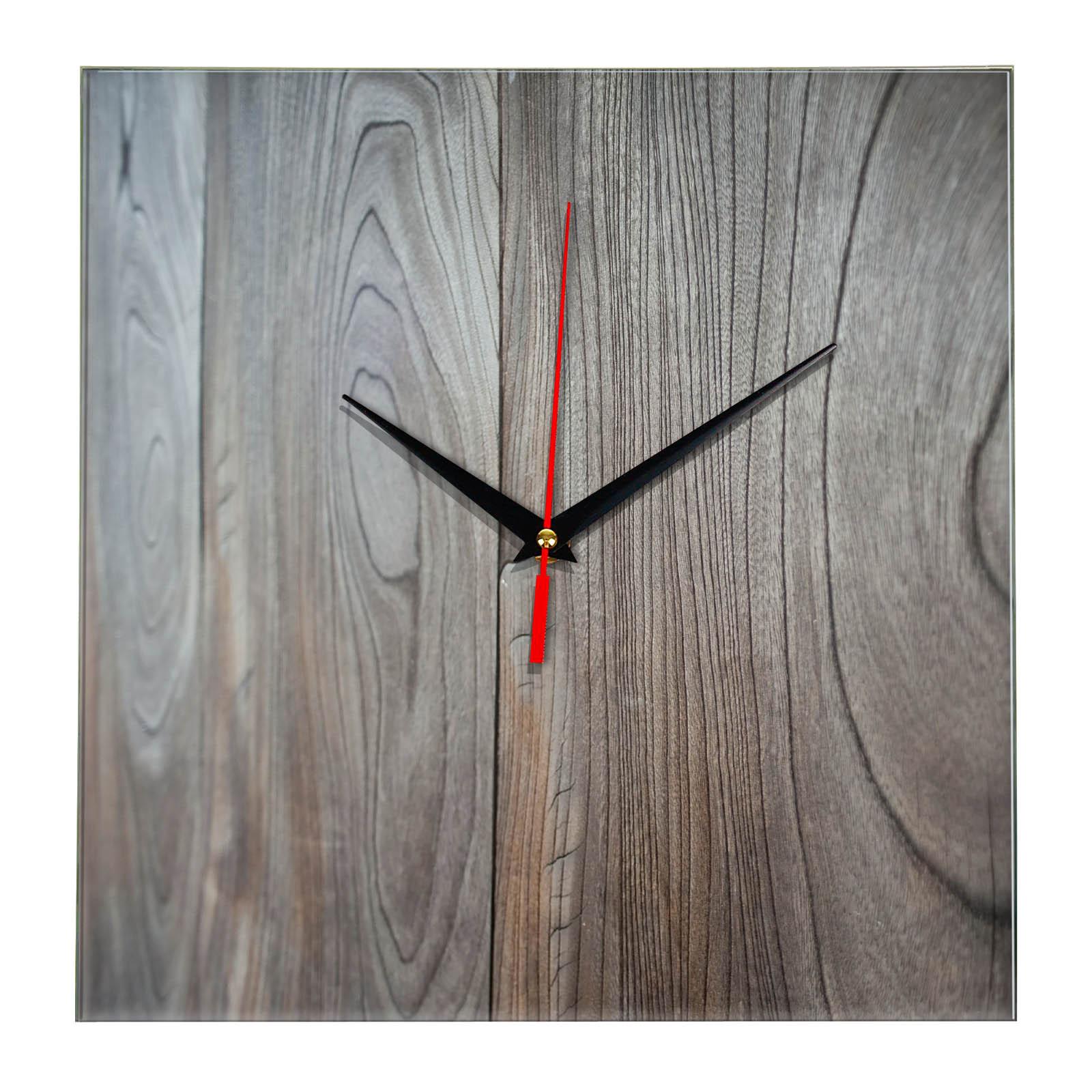 """Дизайнерские настенные деревянные часы """"WoodGlass"""" 15"""