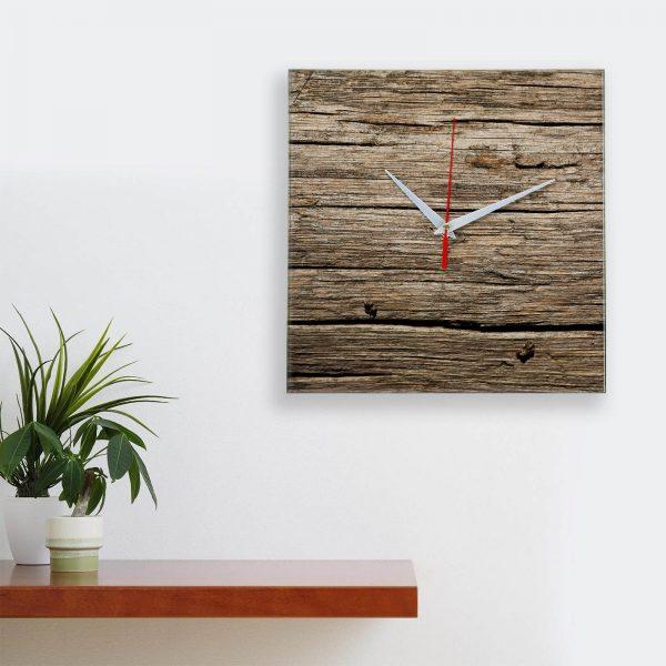 """Дизайнерские настенные деревянные часы """"WoodGlass"""" 16"""